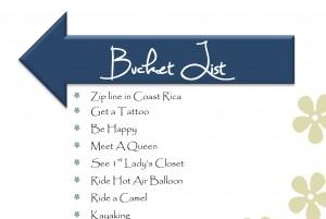 Bucket List Cover